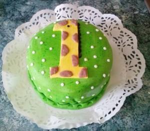 Zsiráfos torta 1 évesnek
