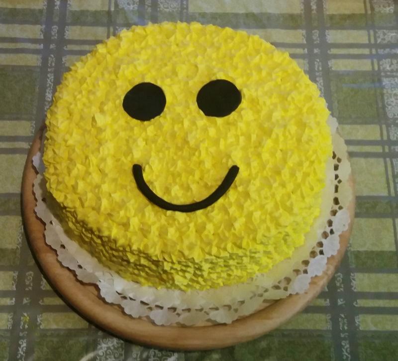 smile torta kidiszítve