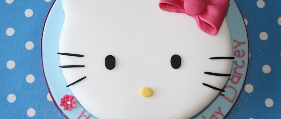 Hello Kitty fej torta