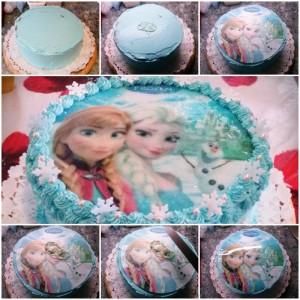 Jégvarázs torta dekoráció lépései