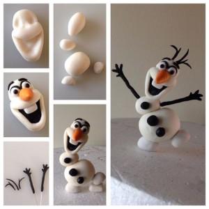 Olaf marcipán figura készítése
