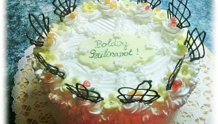 Szülinapi oroszkrém torta