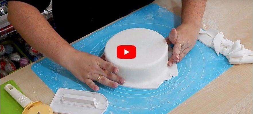 torta bevonása fondanttal